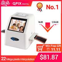 Convertisseur de Film numérique portatif de Scanner de Film de 35mm avec 22 méga Pixels 110 135 126KPK Super 8 Scanner négatif de Film de Photo de glissière