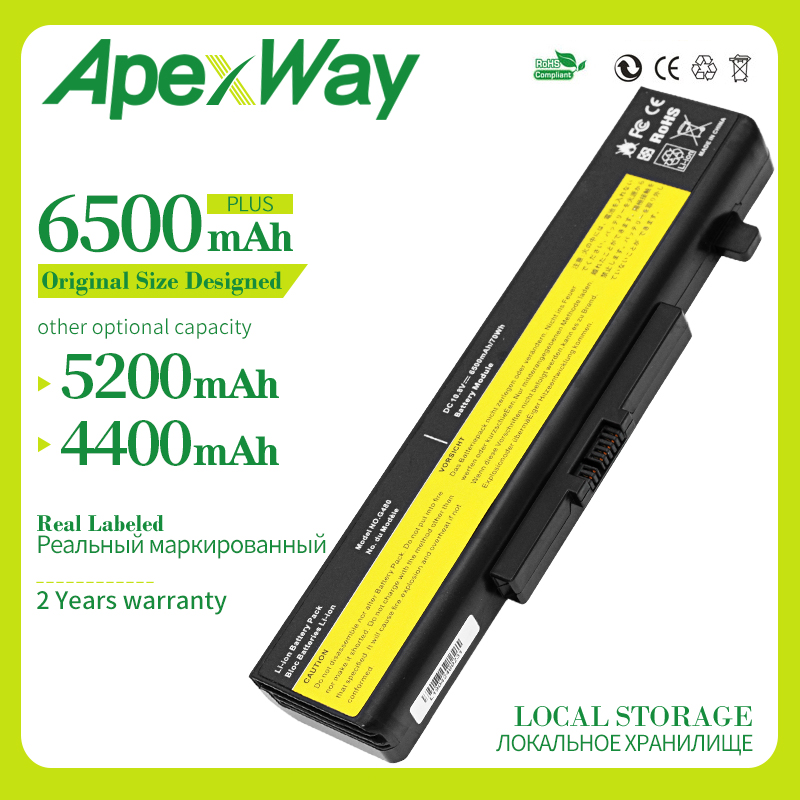 Apexway Laptop Battery For Lenovo Y580 Y480 G510 G580 G710 G480 Z480 Z580 Z585 L11M6Y01 L11L6Y01 L11L6F01 L11L6R01 L11N6R01
