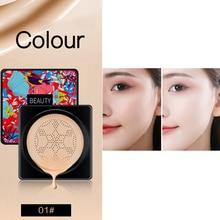 2 Colors Primer Liquid Foundation Makeup Moisturizing Concealer Long Lasting Air Cushion Mushroom Head CC Cream Cosmetics TSLM1
