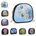 5D «сделай сам», кошелек с алмазной живописью, цепочка, сумка на плечо, кожаный женский клатч, кошелек для монет, косметичка для хранения, пода...