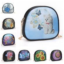 5d diy pintura diamante carteira corrente ombro bolsa de couro das mulheres embreagem moeda bolsa cosméticos saco de armazenamento presente para as meninas