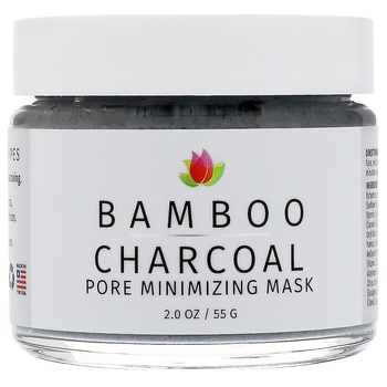 Bamboo Charcoal, Pore Reduction, Acne and Scar Care Mask, 2 oz (55 g)