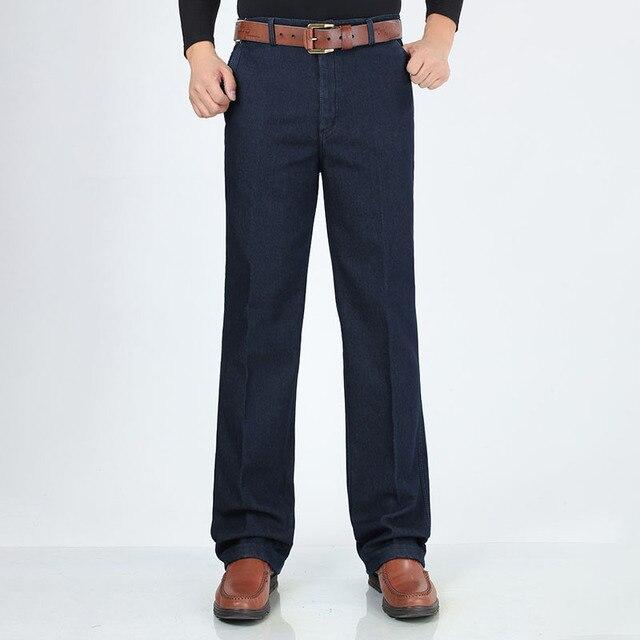Winter Mens Thick Warm Jeans Classic Fleece Male Denim Pants Cotton Blue Black Quality Long Trousers for Men Brand Jeans Size 42 2
