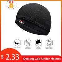 초경량 헤드 반다나 남자 헬멧 아래 사이클링 모자 2019 빠른 건조 자전거 헬멧 라이너 자전거 비니 모자 자전거 모자를 쓰고 있죠