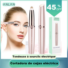 ANLAN Electric Eyebrow Trimmer Shaver Women Eyebrow Painless Hair Removal Pens Makeup Mini Eye Brow Razor Portable Hair Epilator(China)