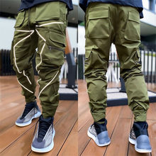 Cargo Pants 2021 New Men Sports Casual Pants Trendy Loose Straight Reflective Running Training Trousers Joggers Pants For Men