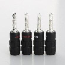 Audiocrast 638B Pure Silver Plated Audio Speaker Banana Plug  BFA Type Hi-Fi Amplifier Terminals