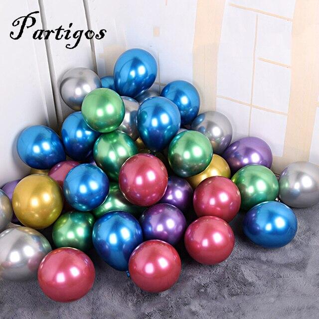 20/50pcs 5 Inch Pearl Metallic Latex Ballon Goud Ronde Metalen Ballonnen Verjaardagsfeestje blazen Lucht Globos Bruiloft decor supplies