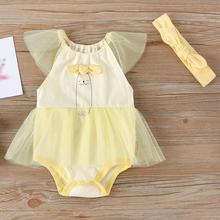 Летний комплект для новорожденных девочек комбинезоны без рукавов