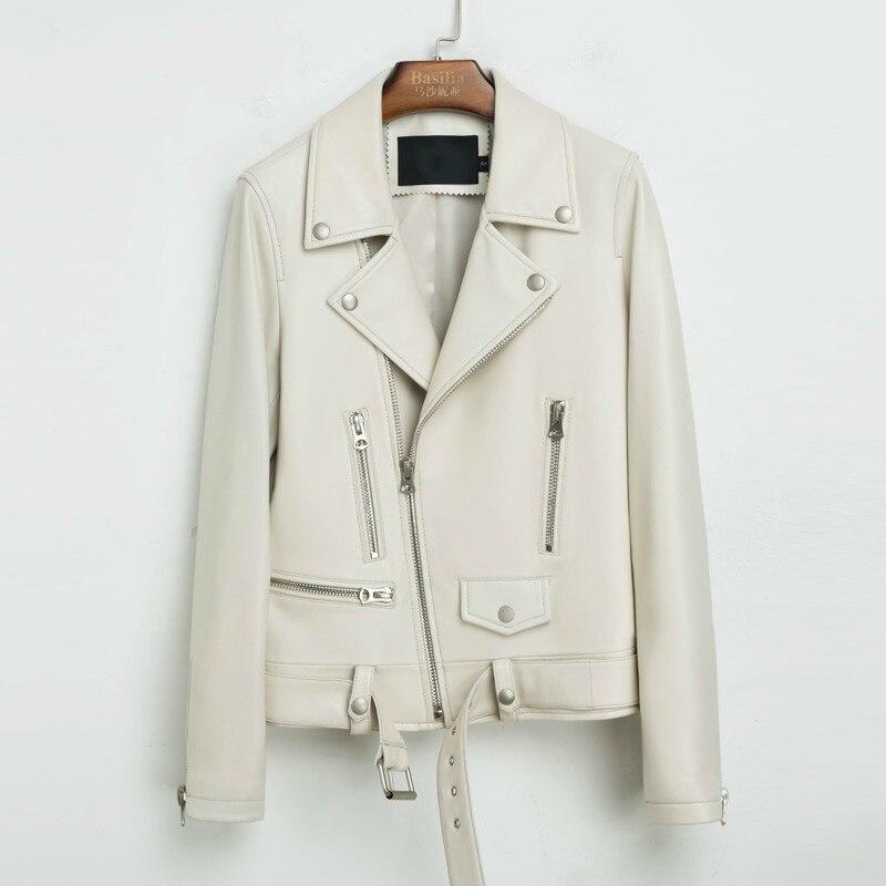 Real Genuine Leather Jacket Women Clothes 2020 Korean Elegant Sheepskin Coat White Female Jacket Women Tops Chaqueta Mujer T2268