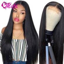 Mifil الشعر 4x4 الماليزي مستقيم الدانتيل إغلاق 130% الكثافة 100% خصلات شعر طبيعي إغلاق أوسط خال ثلاثة جزء إغلاق