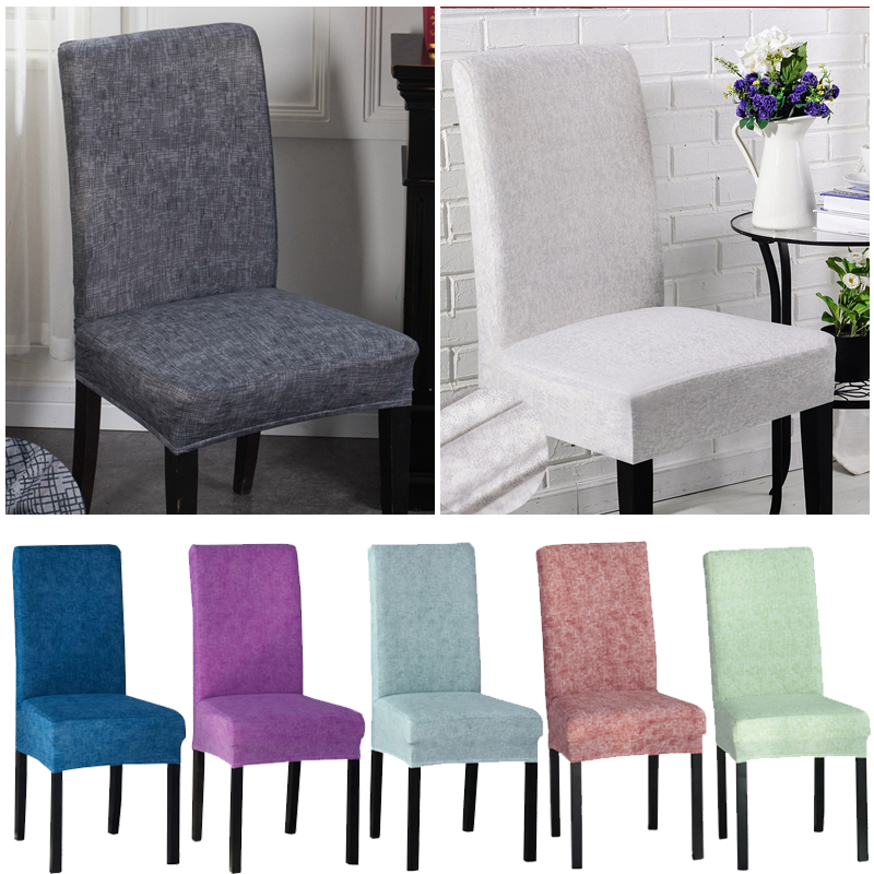Spandex Stretch Dining Chair Protector Cover Removable Washable Dining Room Shabby Chair Slipcover Christmas Home Decor