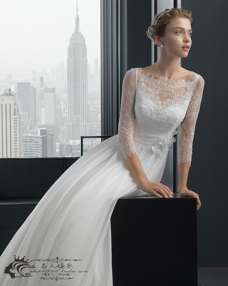 Cheap Wedding Dresses 2019 Flowers Vestido De Noiva Vestido De Festa Longo Robe De Mariee Mariage Lace Wedding Dress Bridal Gown