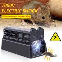 Ratinhos eletrônicos reutilizáveis do assassino da armadilha do rato elétrica que matam instantaneamente para dentro grande coletor assassino do roedor ue/eua plug