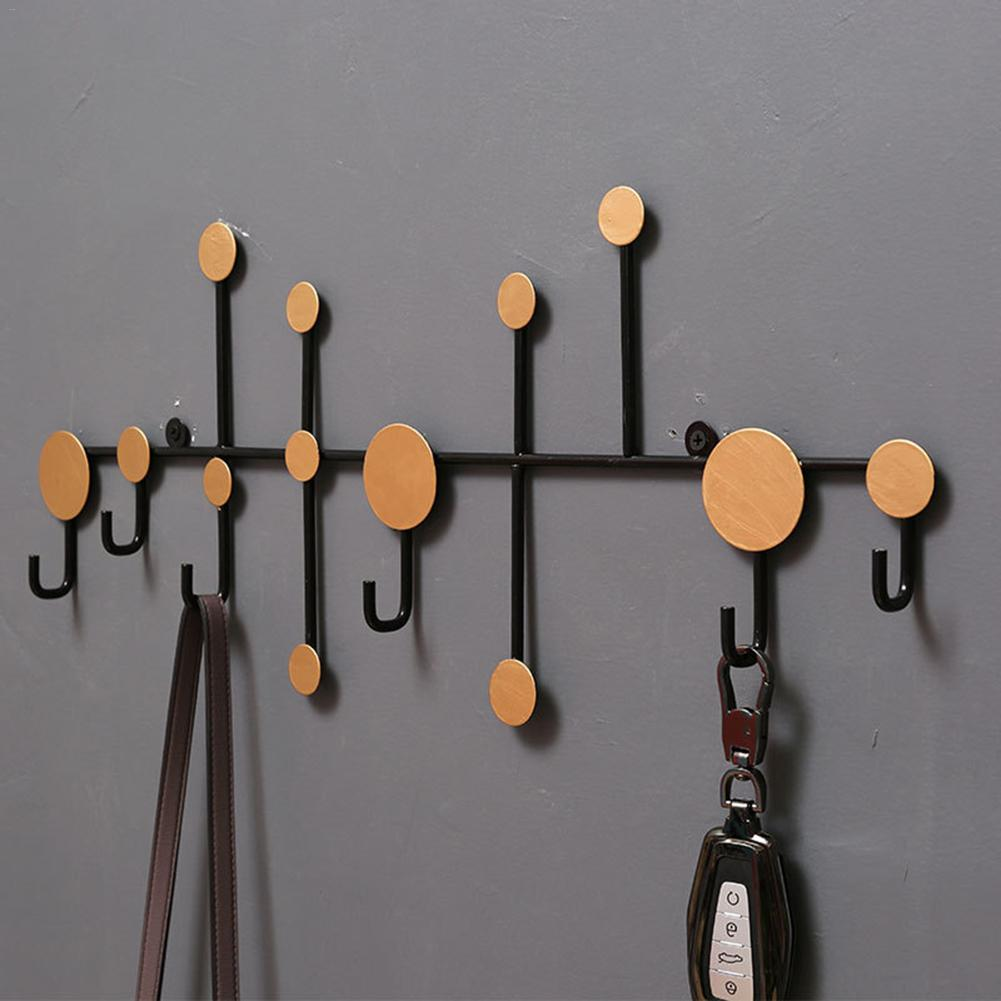 Polka Dot Wrought Iron Decorative Wall-mounted Key Holder Wall Storage Hook Iron Hook For Living Room Door Entrance Porch