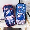 Psychedelic астронавт Вселенная Галактика вместительная канцелярская сумка для хранения пенал Escalar Papelaria Escolar школьные принадлежности