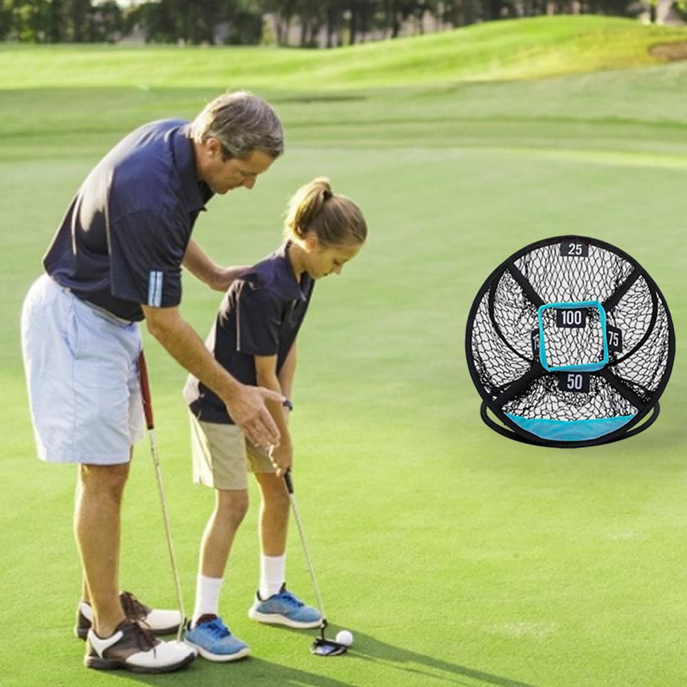 Golf Practice Net Golf Chipping Practice Net Folding Practice Target Nets Golf Nylon Mesh Accessories For Indoor Outdoor Sports