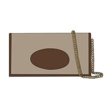 Nova moda carteira corrente bolsa de ombro para as mulheres designer alta qualidade marrom lona couro ferrolho pequena mudança crossbody