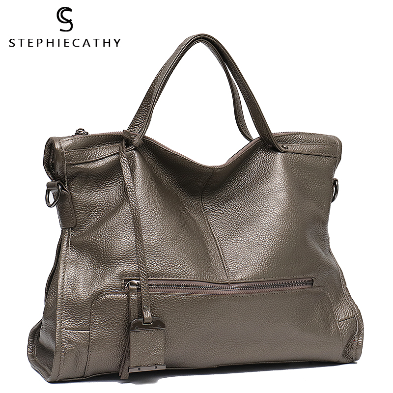 SC Luxury Genuine Leather Handbags For Women Shoulder Bag  Large Tote Bags Big Cow Leather Ladies Cross Body Messenger Bags
