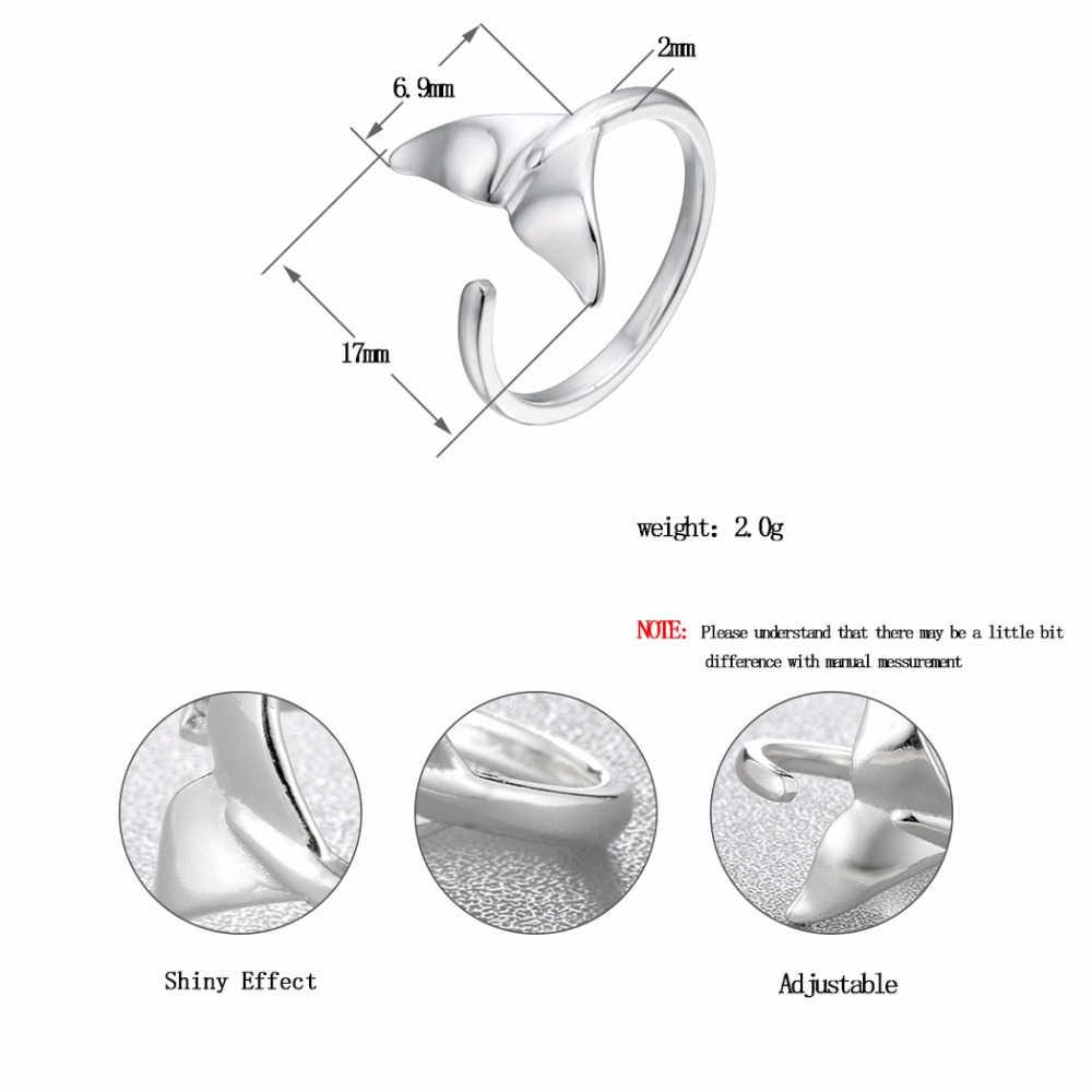 Kinitial, геометрические треугольные кольца, открывающийся треугольник, хвост русалки, Кит, кольцо для женщин, девушек, вечерние, милые, сустав большого пальца ноги, ювелирное изделие, подарок