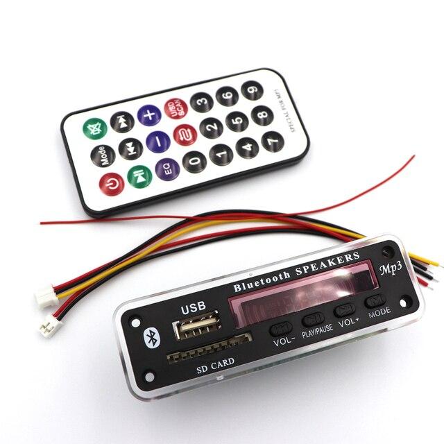 12V Wireless Bluetooth MP3 WMA Decoder Board Audio Module USB TF Radio Car Music MP3 Player Remote Control For Car accessories 5