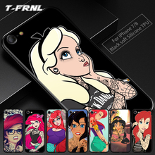 For coque iPhone 6S case 6 6S Plus 7 Plus case Punk princess soft silicone TPU cover for iPhone 7 case for fundas iPhone 6S case kykeo красный iphone 6s plus