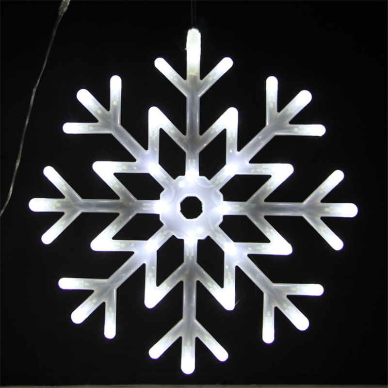 Snowflake Light String LED Lamp Snow Fairy Decoration For Christmas Tree Outdoor Shopping Mall 40cm Waterproof Festival Decor