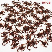 10 unidades por lote, Día de los inocentes, para cazar a otros, simulación de escorpión, Terror, gusano, juguetes, Nausea, escorpión falso, accesorios ATERRADOR