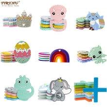 TYRY.HU 1PC Cartoon Silicone Teether BPA Free Fox Dinosaur Rainbow Dumbo Easter-Eggs Pacifier Chain Accessories Baby Molar Toys