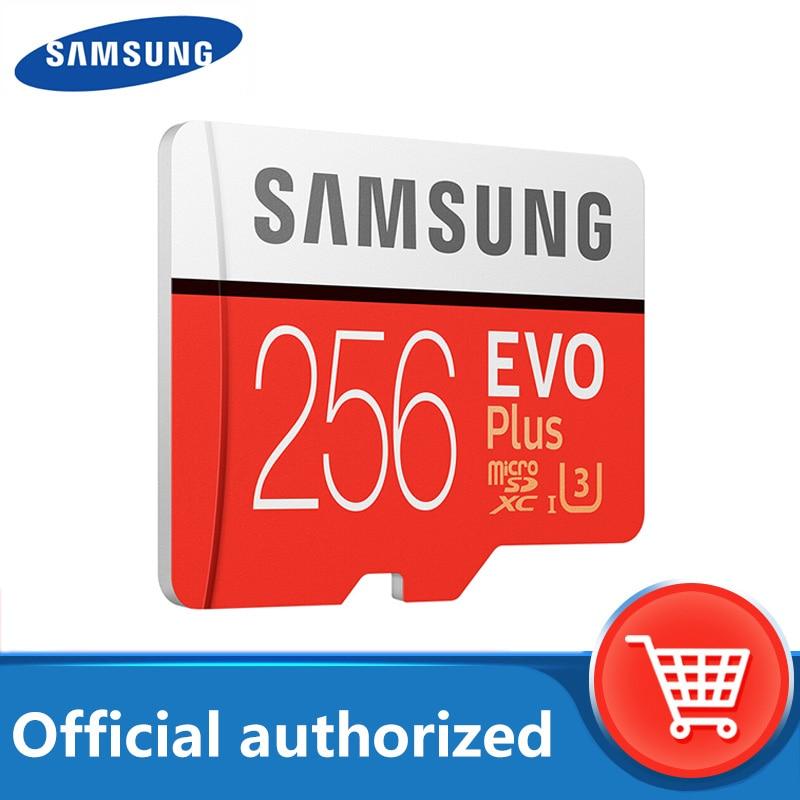Bilgisayar ve Ofis'ten Mikro SD Kartları'de Samsung micro sd kartı 32GB 64GB 128GB 256GB hafıza kartı 100 mb/sn tarjeta micro sd carte SDHC SDXC c10 U3 4K tf kartı indirim title=