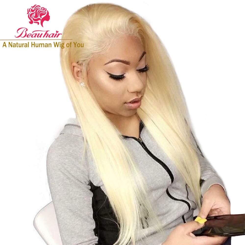 H42f7418230f048679325e74ab2ce40cc6 4X4 Lace Closure Wigs #613 Honey blonde lace Closure Human Hair Wigs Remy Brazilian Human Hair 10-24inch Hair Wigs Beauty Wigs