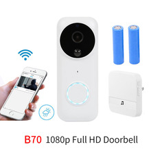 Anytek B70 night vision 1080P Full HD WIFI Security Chime Doorbell Two Way Talk PIR Motion