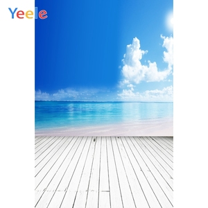 Image 3 - Yeele Brick Wall Gray Wooden Floor Blue Sky Cloud Baby Portrait Photographic Backgrounds Photography Backdrops For Photo Studio