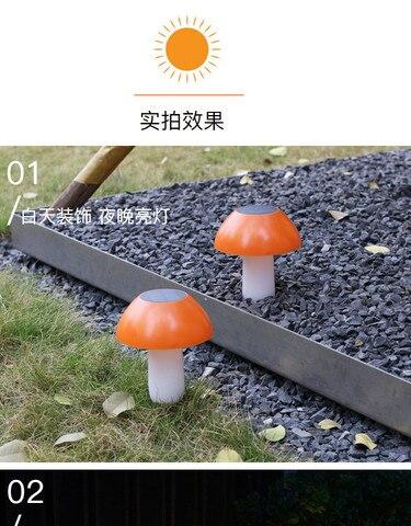 o gramado solar conduziu a lampada villa com cogumelo deu forma luzes da decoracao do