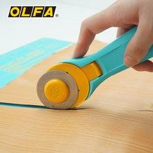 Olfa professionnel fresh hob curva faca de corte pano faca RTY-2/c cortador rotatif 45mm lâmina