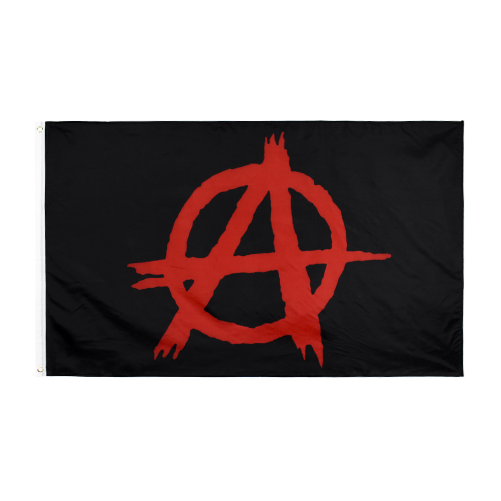 Anarchy Flag the United States USA 150* 90cm 3ft x 5ft Custom Banner Metal Holes Grommets