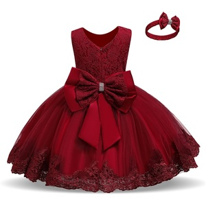 Baby Girl Clothes 1st Birthday Girls Tutu Dress Wedding Vestido Red Christmas Dress Evening Party Gown Princess Dresses for Girl