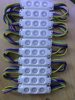 5050 RGB 3 diody led moduł led wtrysku RGB 12VDC 0 75W RGB moduł led wtrysku 100 sztuk partia 2 lata gwarancji tanie i dobre opinie JOYLIT LMI5050 68mm injection module 12 v Moduły led ROHS 200g 19mm LED Modules 5050 RGB injection 2year 12V DC IP65