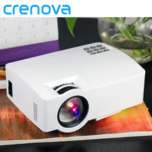 Proyector LED CRENOVA con sistema operativo Android 6,0 para Smart phone Home Cinema película Video proyector Bluetooth proyector wi-fi(China)