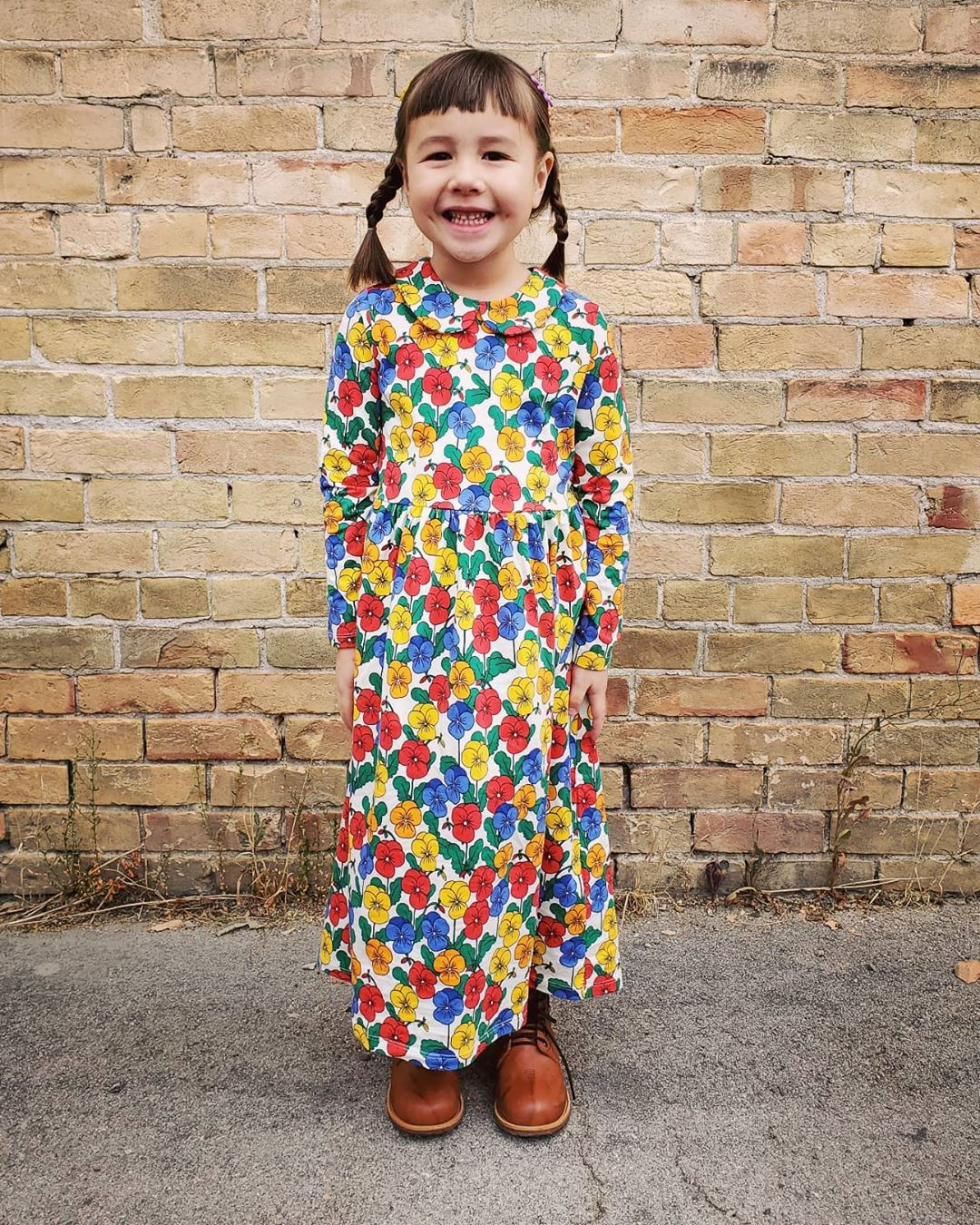 MINI Brand Kids Clothes T-shirts 2021 Autumn Girls Full Floral Pattern Dress Cotton Fashion Baby Romper Girl Boys Casual Pants 2