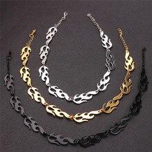 Модное ожерелье s Harajuku уличная одежда Пламя Унисекс ожерелье панк-аксессуар рок цепь колье ожерелье s Ювелирное Украшение для ночного клуба