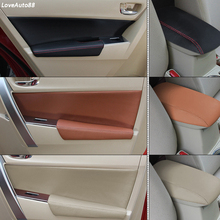 Leather Car Door Armrests / Central Armrest Pad Covers /Door Panel Pads For Toyota Corolla 2014 2015 2016 2017 2018 Car Stylings