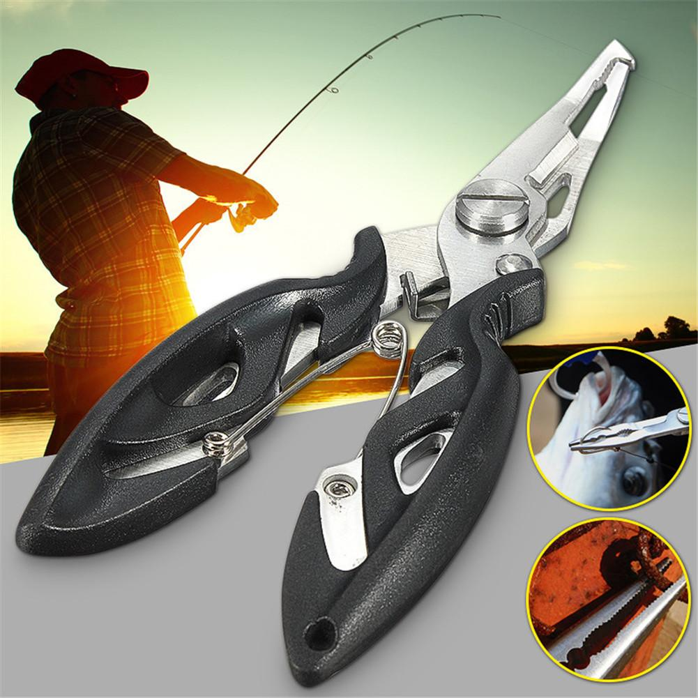 Multi-functional Stainless Steel Fishing Scissors Pliers Line Cutter Lure Bait Remove Hook Tackle Tool Kits With Bag