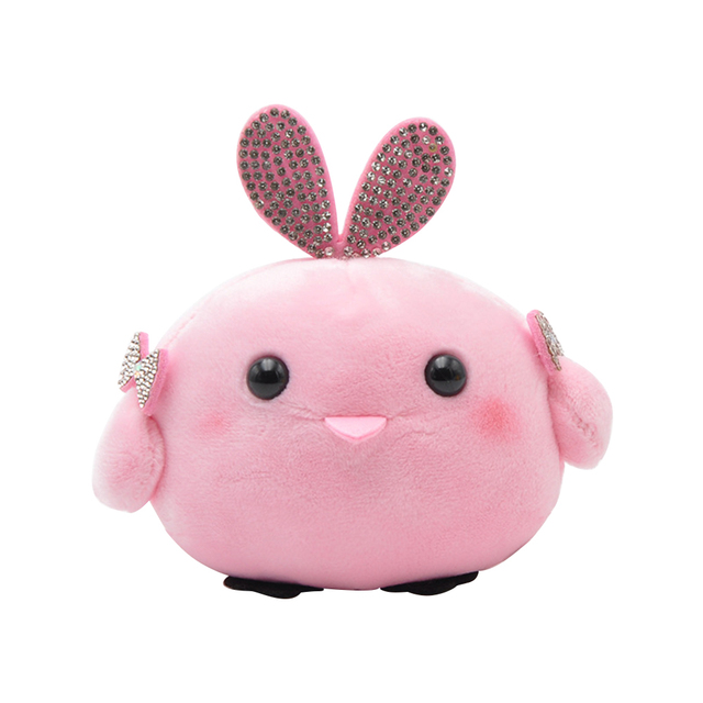 Simulation PP Cotton Chicken Plush Toys Soft Stuffed Dolls Small Keychains Bag Pendant Plush Toys For Children