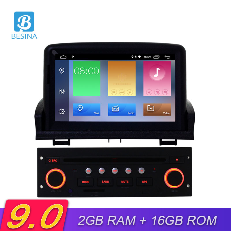 Besina 1 Din Android 9.0 Car DVD Player For Peugeot 307 2008 2009 2010 2011 Car multimedia GPS Navigation Radio WIFI Video Audio image