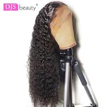 Jerry Curly кружевные передние человеческие волосы парики с детскими волосами бразильские волосы remy короткие кудрявые парики для женщин предварительно сорванный парик