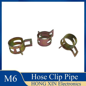 1Pcs 6mm for choose Fuel Spring Clip Vacuum Silicon Hose Clamp Autos Autos Spring Clip Fuel Oil Water Hose Pipe Tube Clamp