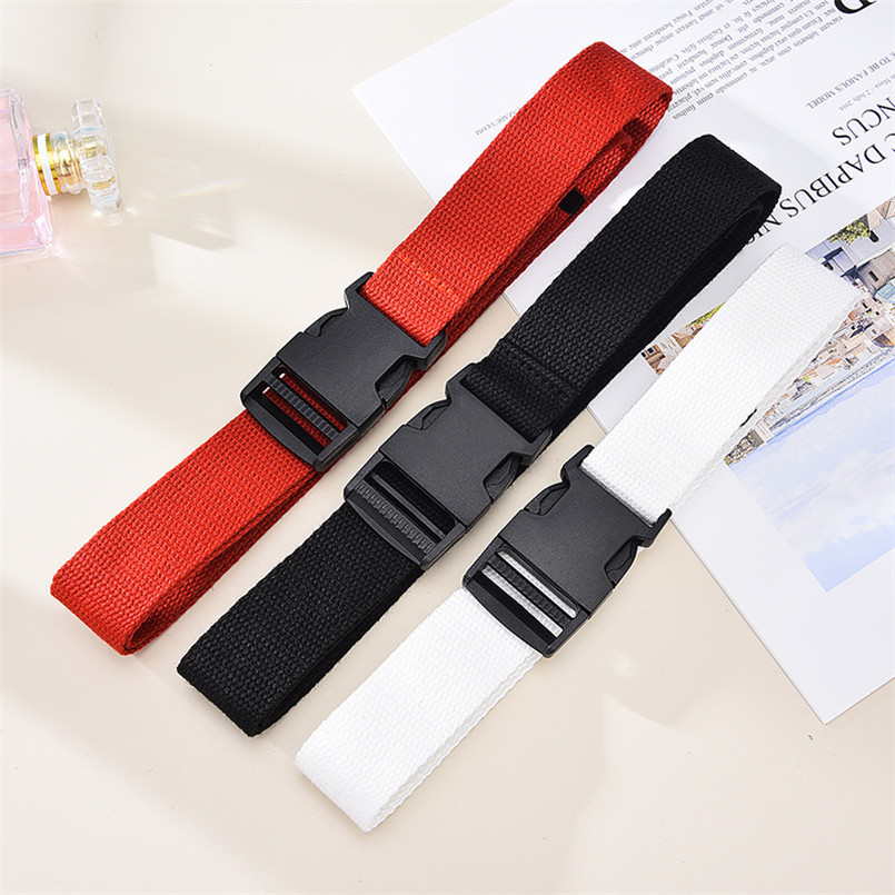 Fashion Belt For Women Waist Recrangle Eye-splice Metal Buckle Slim Retro Fabric Accesories Designer Pants Waistband For Men Red