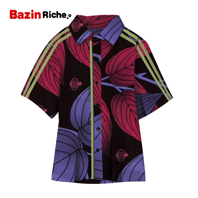New Boy's <font><b>Shirts</b></font> Tops Bazin Riche <font><b>African</b></font> <font><b>Wax</b></font> Print Ankara <font><b>Shirt</b></font> 100% Cotton <font><b>Shirt</b></font> for Boys Children Kids <font><b>African</b></font> Clothes WYT380 image
