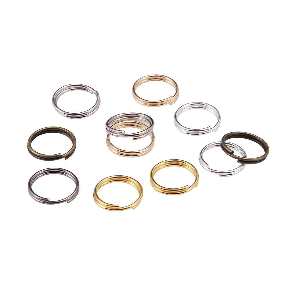 200 pçs/saco 6 8 10 12 mm abrir anéis de salto duplo loops split anéis conectores para diy jóias fazendo encontrar acessórios atacado